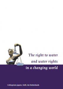 The right to water and water rights in a changing world